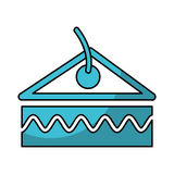 Delicious cake portion isolated icon. Vector illustration design Royalty Free Stock Image