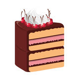 Delicious cake portion sweet icon Stock Photography