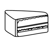 Delicious cake portion sweet icon Stock Image
