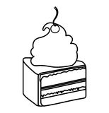 Delicious cake portion sweet icon Royalty Free Stock Photography