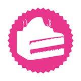 Delicious cake portion sweet icon Stock Photos