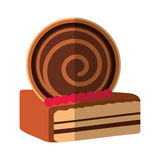 Delicious cake portion sweet icon. Illustration design Stock Image