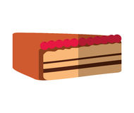Delicious cake portion sweet icon. Illustration design Royalty Free Stock Photos