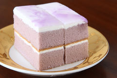 Delicious  cake with purple cream Stock Photography