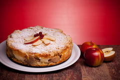 Delicious Cake With Sour Apples Royalty Free Stock Image