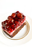 Delicious cake with sweet cherries Stock Photos