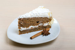 Delicious cake .sweet dessert Royalty Free Stock Images