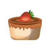 Delicious cake sweet icon Stock Photo
