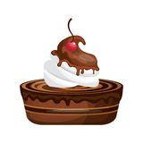 Delicious cake sweet icon Royalty Free Stock Image