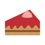 Delicious cake sweet portion icon. Vector illustration design Royalty Free Stock Photos