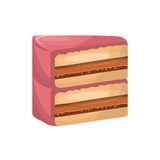 Delicious cake sweet portion icon. Vector illustration design Royalty Free Stock Images