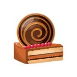 Delicious cake sweet portion icon. Vector illustration design Stock Photo
