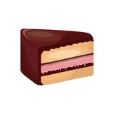 Delicious cake sweet portion icon. Vector illustration design Royalty Free Stock Image