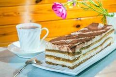 Delicious cake Tiramisu Stock Photo