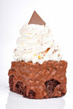 Delicious Cake With Whipped Cream Stock Image