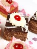 Delicious cake on white background Stock Image