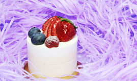 Delicious cakes. Colorful berry delicious cakes. Bon appetit Royalty Free Stock Photos