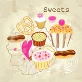 Delicious cakes Stock Photos