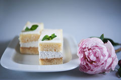Delicious cakes. shallow dof Stock Photo