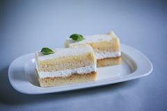 Delicious cakes. shallow dof Stock Photography