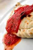 Delicious calzone - italian food Royalty Free Stock Photo