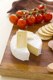 Camembert Cheese And Tomatoes Stock Photography