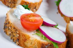 Delicious canape Royalty Free Stock Photography