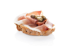 Delicious canape. royalty free stock image
