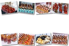 Delicious canapes as event dish royalty free stock images