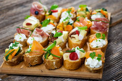 Delicious  Canapes Royalty Free Stock Images