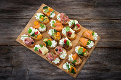 Delicious  Canapes Royalty Free Stock Photography