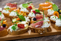 Delicious  Canapes Stock Image