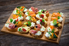 Delicious  Canapes Royalty Free Stock Image