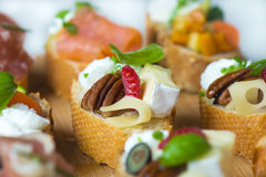 Delicious  Canapes Royalty Free Stock Photo