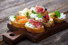 Delicious  Canapes Stock Photography