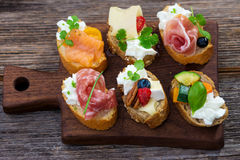 Delicious  Canapes Royalty Free Stock Photos