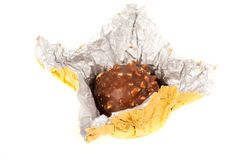 Delicious candy in golden foil Royalty Free Stock Images