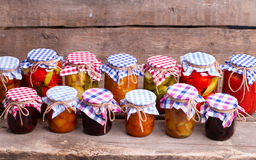 Delicious canned food for the winter. royalty free stock photos