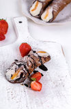 Delicious cannoli Stock Images