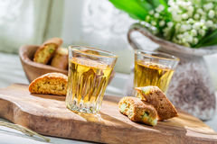 Delicious cantuccini with peanut Royalty Free Stock Photo