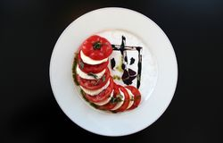 Caprese traditional salad Royalty Free Stock Images