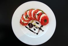 Caprese traditional salad Stock Images