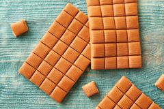 Delicious caramel candies Stock Photography