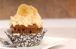 Delicious carrot cake cupcake Royalty Free Stock Images