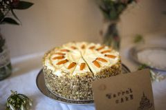 Delicious Carrot Cake Royalty Free Stock Images