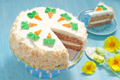 Delicious Carrot Cake Stock Photography