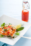 Delicious carrot salad. Vietnamese carrot salad with chili sauce and lime Stock Photography