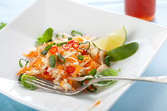 Delicious carrot salad Royalty Free Stock Images