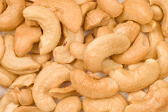 Delicious Cashews Background Close Up Stock Images