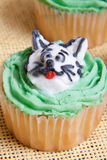 Delicious Cat Character Cupcakes Stock Photos